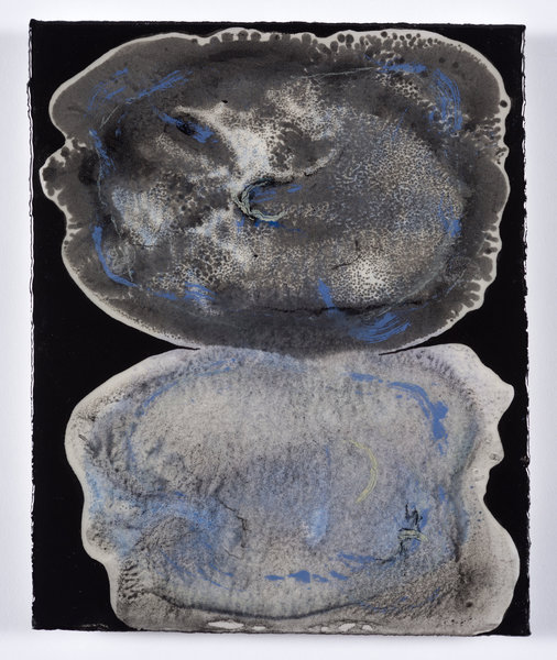 Mitosis for Black Tie, 8x10, encaustic monotype, oil stick, on paper
