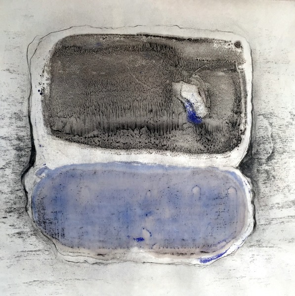 M.BG-4, 18x18, encaustic monotype, graphite on paper